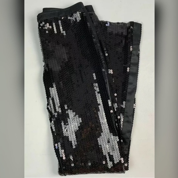 BCBGMaxAzria Pants - BXBGMaxazria Sequined Tuxedo Pants RARE